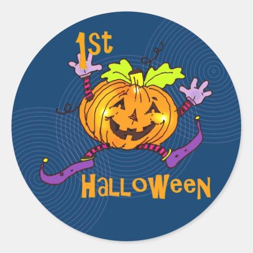 Happy Pumpkin 1st Halloween Sticker