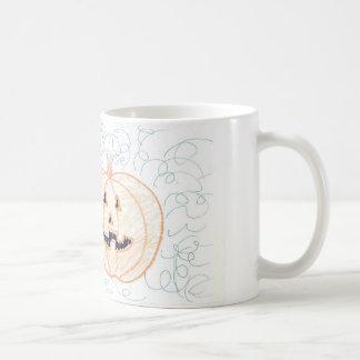 Happy pumpkin basic white mug