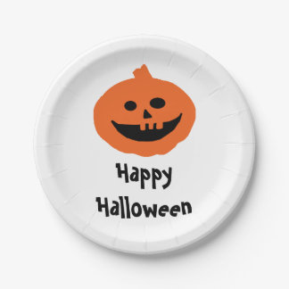 Happy Pumpkin Halloween Party 7 Inch Paper Plate
