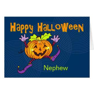 Happy Pumpkin Happy Halloween Nephew Card