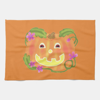 Happy Pumpkin kitchen towel