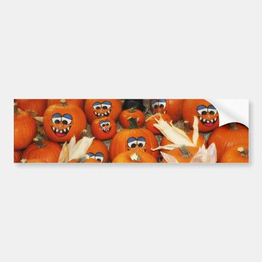 Happy Pumpkin Patch Bumper Sticker