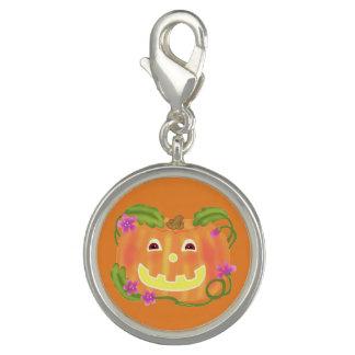 Happy Pumpkin round charm