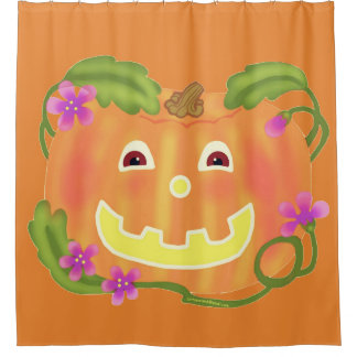 Happy Pumpkin shower curtain / toss game