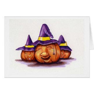 Happy Pumpkin Trio Greeting Card