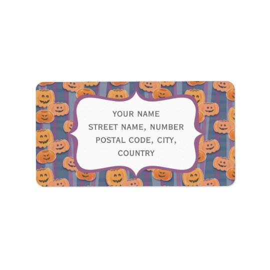 happy pumpkins address label