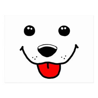 Happy Puppy Face Postcard