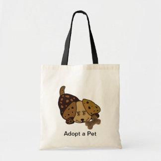 Happy Puppy Pet Adoption Tote Bag