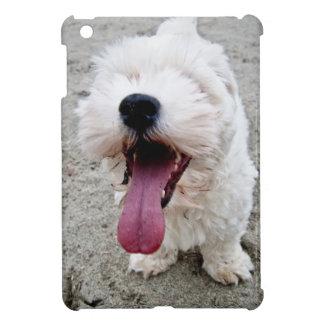 Happy Puppy white dog, malteese, maltipoo. Cover For The iPad Mini