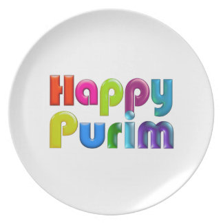 HAPPY PURIM funky plate for Purim