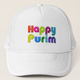 HAPPY PURIM funky Trucker Hat