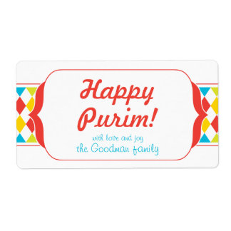 Happy Purim - Gif Label Shipping Label