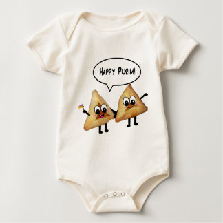 Happy Purim hamantaschen Baby Bodysuit