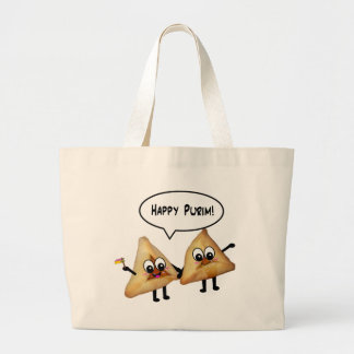 Happy Purim hamantaschen Large Tote Bag