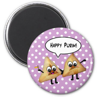 Happy Purim hamantaschen Magnet