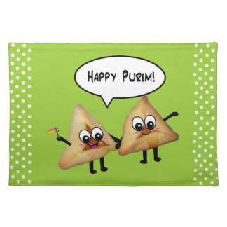 Happy Purim Party Platecmats - Green Placemat
