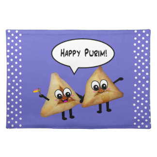 Happy Purim Party Platecmats - Purple Placemat