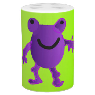 Happy Purple Frog - Bathroom Set