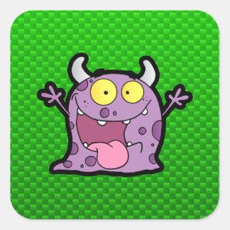 Happy Purple Monster; Green Stickers