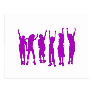 Happy Purple People Postcard