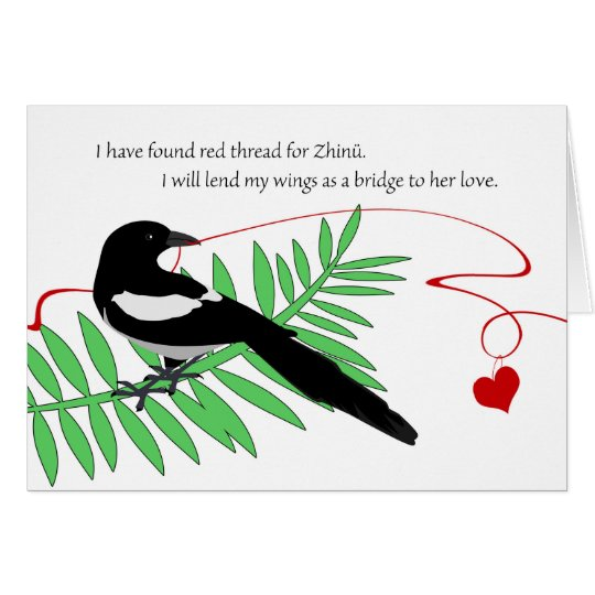 Happy Qixi Festival, Chinese Valentine's, Magpie Card