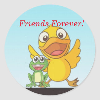 Happy Quack Friends Forever Sticker