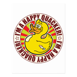 Happy Quacker Duck Postcard