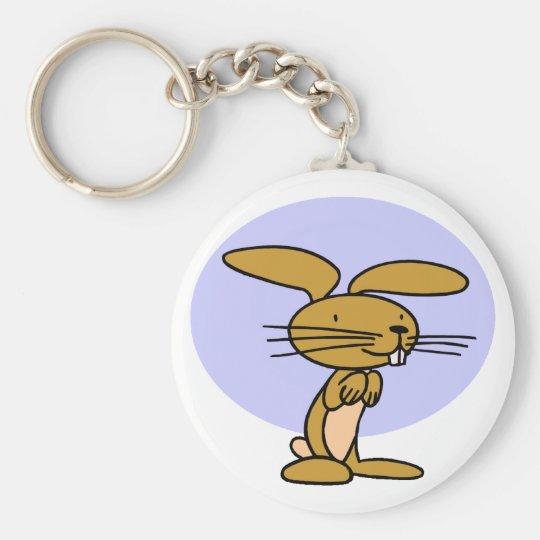 Happy Rabbit Basic Round Button Key Ring