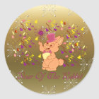 Happy Rabbit Year Classic Round Sticker