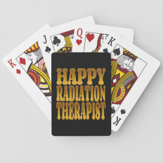 Happy Radiation Therapist in Gold Poker Deck