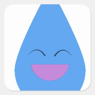 Happy Rain Drop Square Sticker