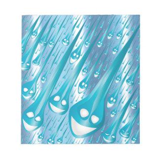 Happy Rain Drops Notepad