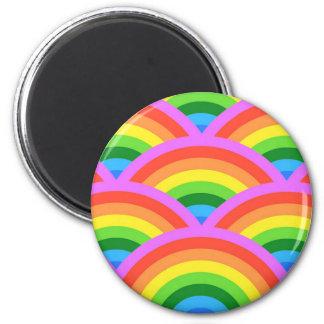 Happy Rainbow 6 Cm Round Magnet