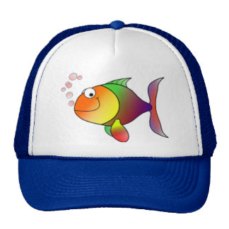 Happy Rainbow Fish Cap