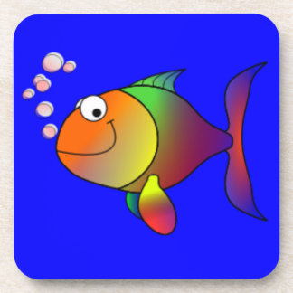 Happy Rainbow Fish Coaster