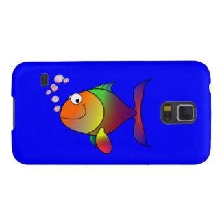 Happy Rainbow Fish Galaxy S5 Case