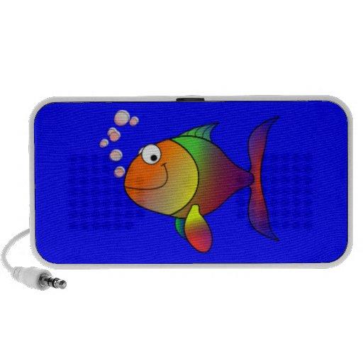 Happy Rainbow Fish Travelling Speakers