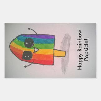 Happy Rainbow Popsicle Stickers