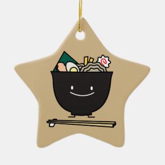 Happy Ramen Bowl Ceramic Star Decoration