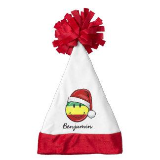 Happy Rasta Flag Custom Name Santa Hat