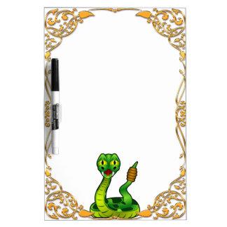 Happy rattlesnake dry erase board