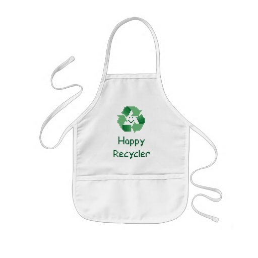 Happy Recycler Cross Stitch Aprons