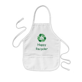 Happy Recycler Cross Stitch Kids Apron