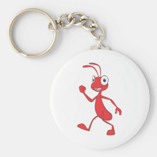 Happy Red Ant Walking Key Chain