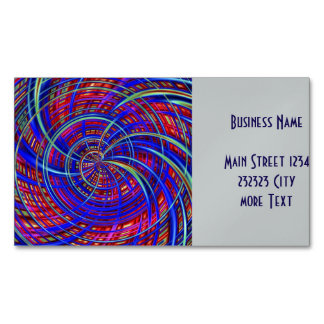 Happy, red blue (C) Magnetic Business Card