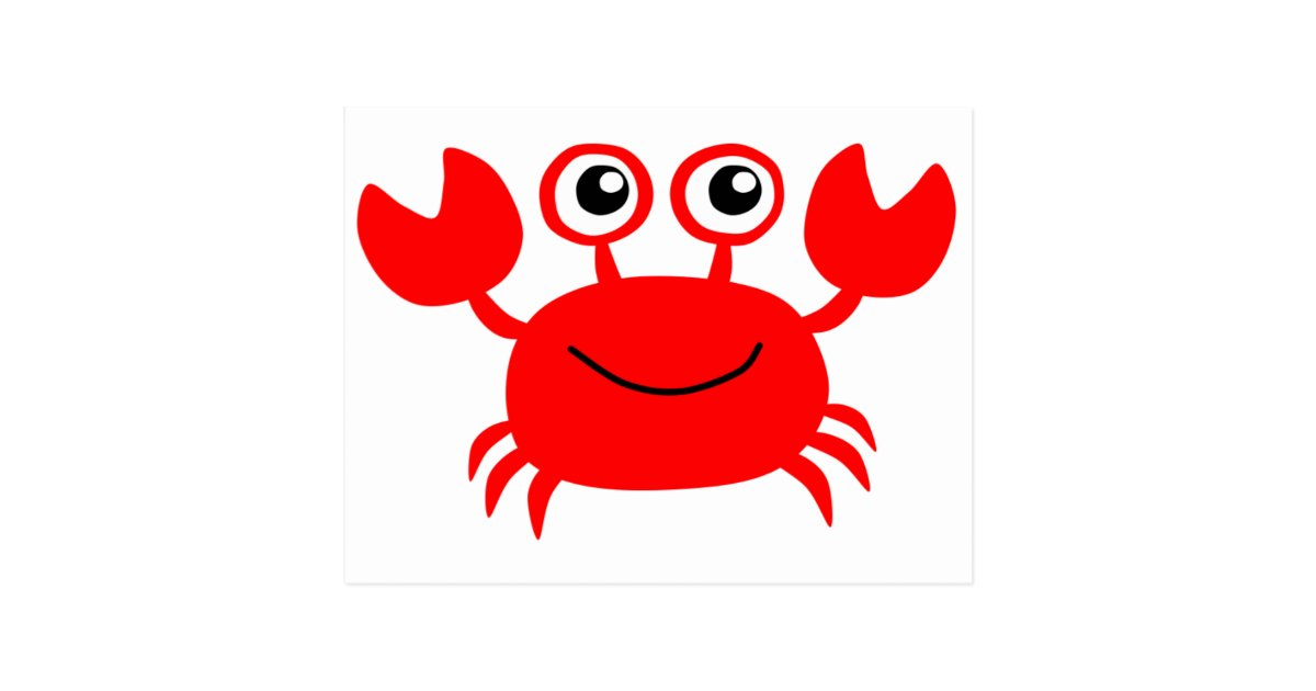 Happy Red Cartoon Crab Postcard Zazzle Co Uk The best selection of royalty free cartoon crab vector art, graphics and stock illustrations. happy red cartoon crab postcard zazzle co uk