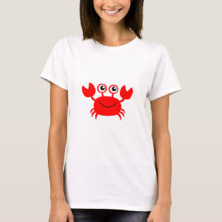 Happy Red Cartoon Crab T-Shirt