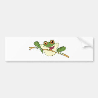 Happy Red Eyed Green Tree Frog Bumper Sticker