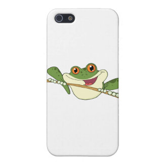 Happy Red Eyed Green Tree Frog iPhone 5 Cover