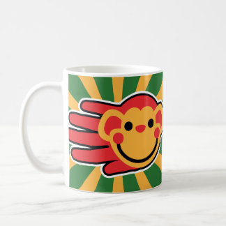 Happy Red Monkey Smiley Face Coffee Mug